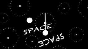 Após, futuro, espaço e tempo video estoque