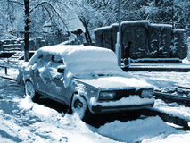 Após o blizzard imagem de stock royalty free