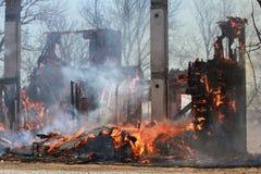 Após o fogo Fotografia de Stock