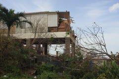 Após o furacão Maria Rincon Puerto Rico September 2017 fotografia de stock royalty free
