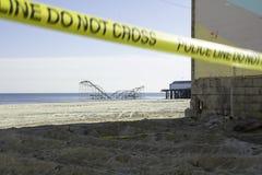 Após o furacão Sandy:  Alturas do beira-mar, NJ Fotografia de Stock