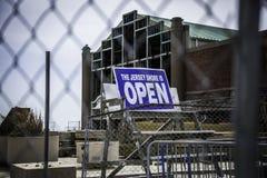Após o furacão Sandy: Parque de Asbury - a costa está aberta Foto de Stock