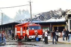 Após o incêndio Fotos de Stock Royalty Free