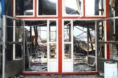 Após o incêndio Fotografia de Stock Royalty Free