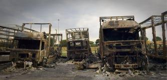 Após o incêndio Fotografia de Stock