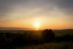 Após o por do sol do fulgor Imagens de Stock