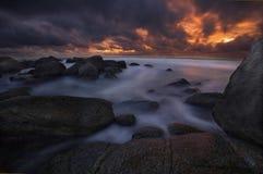 Após o por do sol em Phuket Imagem de Stock