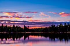 Após o por do sol no lago ontario Fotos de Stock