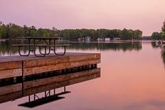 Após o por do sol no lago sturgeon fotografia de stock