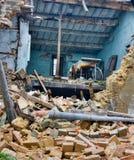 Após o terremoto imagem de stock