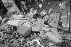 Após o terremoto fotografia de stock royalty free