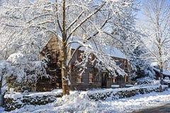 Após a tempestade da neve, Newbury, miliampère fotografia de stock royalty free