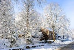 Após a tempestade da neve, Newbury, miliampère imagem de stock