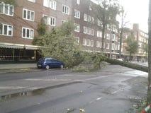 Após a tempestade, linha Amsterdão do bonde Fotografia de Stock Royalty Free