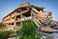 Após um disastre natural - edifícios arruinados Fotografia de Stock Royalty Free
