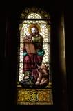 Apóstol de Luca sobre el vidrio manchado Foto de archivo