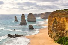 12 apóstolos em Victoria, Austrália fotos de stock