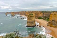 12 apóstolos, grande estrada do oceano, Victoria Australia Oct 2017 Foto de Stock Royalty Free