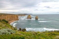12 apôtres, grande route d'océan, Victoria Australia Oct 2017 Image stock