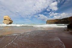 12 apôtres s'approchent du port Campbell, grande route d'océan dans Victoria, Australie Photographie stock libre de droits