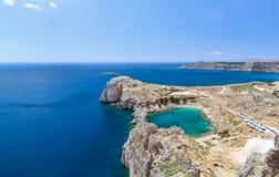 Apôtre Paul Rhodes, Grèce de baie Images stock