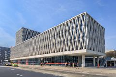 AP University building with campuses in the center of Antwerp, Belgium. ANTWERP-MAY 9, 2018. AP University building with several campuses in Antwerp center, the royalty free stock photography