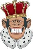 Apa i en krona stock illustrationer