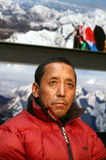 Apa Sherpa in Czech republic. Nepalese Sherpa mountaineer Apa Sherpa visit on November 23, 2009 in Lednice, Czech republic. Man reach the summit of Mount Everest Royalty Free Stock Photos