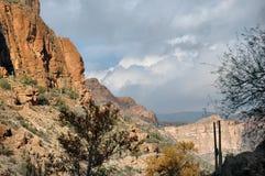 apache ίχνος τοπίου της Αριζόνα & Στοκ Φωτογραφία