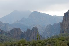 apache ίχνος τοπίου της Αριζόνα & Στοκ Εικόνα