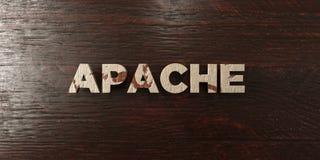 Apache - βρώμικος ξύλινος τίτλος στο σφένδαμνο - τρισδιάστατο δικαίωμα ελεύθερη εικόνα αποθεμάτων Στοκ Εικόνες