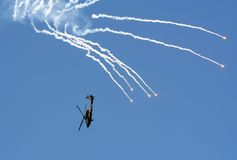 apache ελικόπτερο επίδειξης Στοκ Εικόνα