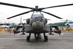 Apache AH-64 helicopter Royalty Free Stock Photography