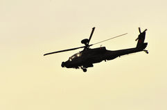 Apache AH-64 helicopter Royalty Free Stock Photo