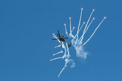Apache AH-64D Solo Display Royalty Free Stock Image