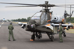 Apache AH-64D helikopter Royaltyfri Bild