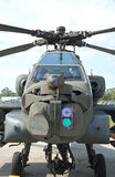 Apache attack helicopter. Front view of modern military attack helicopter Stock Photos