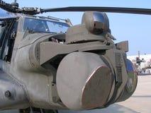 Apache eyes. AH-64 Apache cockpit, IR & laser targeting Stock Photography