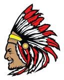 Apache głowy symbolu wektor Obraz Stock