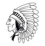 Apache głowy wektoru ilustracja Fotografia Royalty Free
