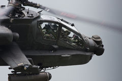 Apache Gunship. Side view looking into cockpit of Apache Helicopter Stock Image