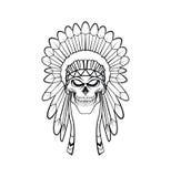 Apache Head Stock Image