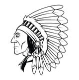 Apache Head Vector Illustration Royalty Free Stock Photography