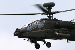 Apache helicopter. One of the most deadliest helicopters to fly in any war zone royalty free stock image