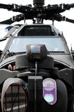 Apache Helicopter. Close up of the front of an apache attack helicopter Stock Images