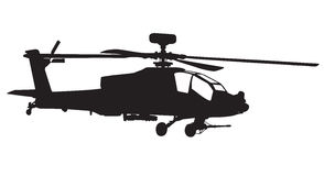 Apache helicopter vector illustration