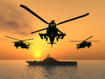 Apache Helicopter Royalty Free Stock Photography