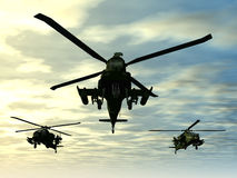 Apache Helicopter Stock Photo