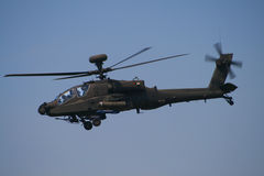 Apache helicopter. One of the most deadliest helicopters to fly in any war zone stock images