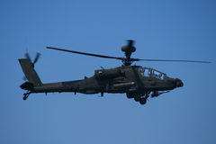Apache helicopter. One of the most deadliest helicopters to fly in any war zone royalty free stock images